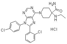 Otenabant (CP-945598) HCl Chemical Structure
