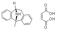 (-)-MK 801 Maleate Chemical Structure